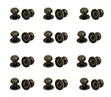 12mm knob - Antrader Metal Round Head Pull Handle Knobs Bronze Tone 12mmx11mm 24pcs for Wood Case Gift Case Drawer