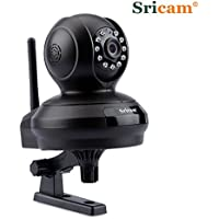 Sricam SP019 Indoor 2.0MP HD 1080P Wireless IP Camera for Baby Monitor WIFI Security Camera, P2P Remote View by Mobile Phone, Motion Detection Alarm, 2-Way Audio and Night Vision(Black)