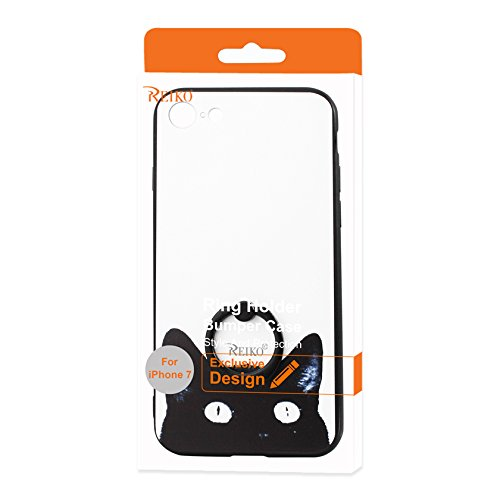 REIKO iPhone 7 Cat Design Case with 360 Degree Rotating R...