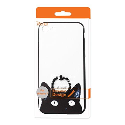 REIKO iPhone 7 Cat Design Case with 360 Degree Rotating R...