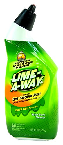 Lime-A-Way Professional Strength Cleaning Destroys Lime, Calcium, Rust, Hard water Build up, Thick Gel Formula,  Lime Away, 16 oz, 2 Pack