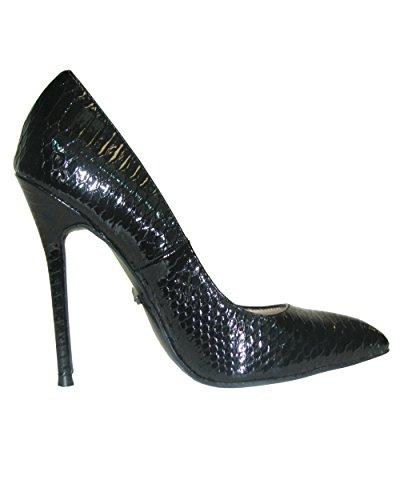 Snake Women's Black Heel Pu Python 21 Highest Pump Fierce 5UqTWfnw0