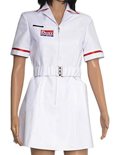 (GOTEDDY Twisted Joker Nurse White Uniform Dress Cosplay Costume)
