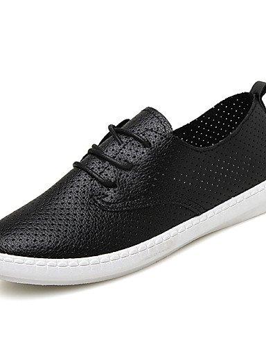Njx Damen Schuhe flach Heel Comfort Oxford Casual Schwarz Weiß Weiß Weiß B01KHBS4ZE Schnürhalbschuhe Neuartiges Design 857225