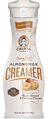Califia Farms Almondmilk Coffee Creamer with Coconut Cream, Dairy Free, Plant Milk, Vegan, Non-GMO, Hazelnut, 25.4 Oz (Pack of 6)