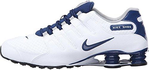 Nike Shox Nz Se Mens Scarpe Da Corsa 833579 Bianco / Blu Costiere Blu-costiere