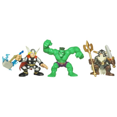 Marvel Super Hero Squad Movie Pack With Thor Hulk And Odin
