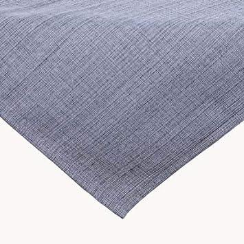 stain-repellent Meliert the perfect textile blanket for indoor and outdoor use Polyester Kamaca outdoor garden tablecloth weatherproof Tischl/äufer 40x140 cm crease-resistant Grau