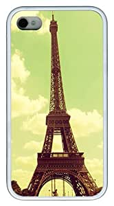IMARTCASE iPhone 4S Case, Beautiful Retro Vintage Eiffel Tower Paris Case for Apple iPhone 4S/5 TPU - White by lolosakes by lolosakes