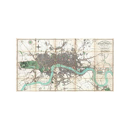 Antique Map of London - Art Print - 18