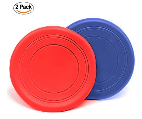 Moggiez & Doggiez DOG FRISBEE/FLYING DISC – Pack of Two – Soft Dog Toys For Small, Medium and Large Dogs– Get Ready To 'Float Like a Pro' With A Cool Outdoor Dog Toy! – PAIR by Moggiez & Doggiez