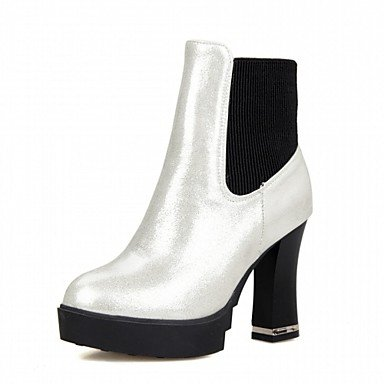 RTRY Women'S Boots Spring Fall Winter Platform Comfort Novelty Patent Leather Leatherette Wedding Office &Amp; Career Dress Casual Party &Amp; Evening US6 / EU38 / UK5 Big Kids LmUY4NSWr0