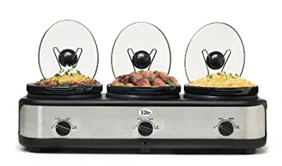 MaxiMatic EWMST-325 Elite Platinum Triple Slow Cooker from Maximatic