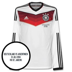 Germany Home L/S Jersey 2014 / 2015 + World Cup Final Match Day Transfer