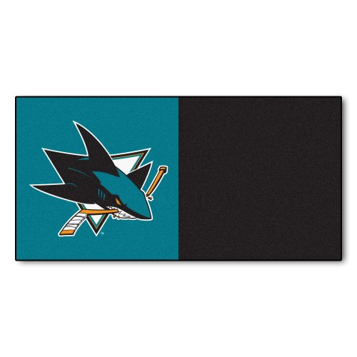 Price comparison product image FANMATS NHL San Jose Sharks Nylon Face Team Carpet Tiles