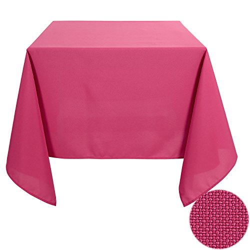 Deconovo Decorative Wrinkle Resistant Square Tablecloth for Dining Room 60x60 Inch Watermelon Red