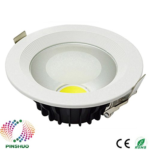 10PCS Warranty 3 Years Thick Housing 100-110LM/W 30W LED Downlight COB LED Down Light Dimmable Recessed Ceiling Bulb Spot Lighting (Non-dimmable, Natural White)