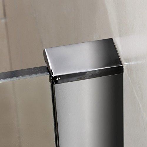 Mamparas ducha Panel Pantalla Fija cristal 10mm templado para ba/ño 130x200cm
