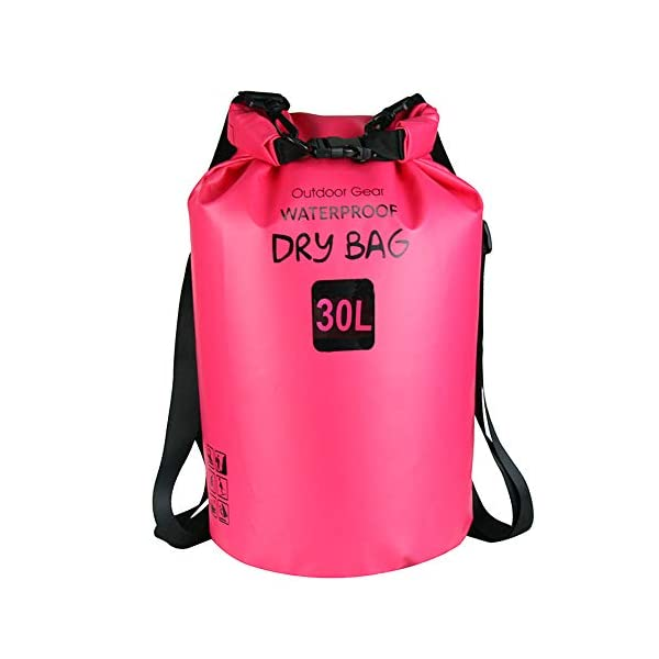 ZhaoCo Borsa Impermeabile, 5L/10L/20L/30L Dry Bag con Tracolla Regolabile Perfetto Per Kajak, Canoa, Vela, Pesca, Nuoto… 1 spesavip