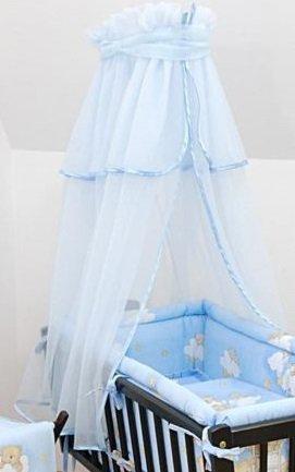moustiquaire bb lit couronne auvent nettissu pour couffinberceau bleu