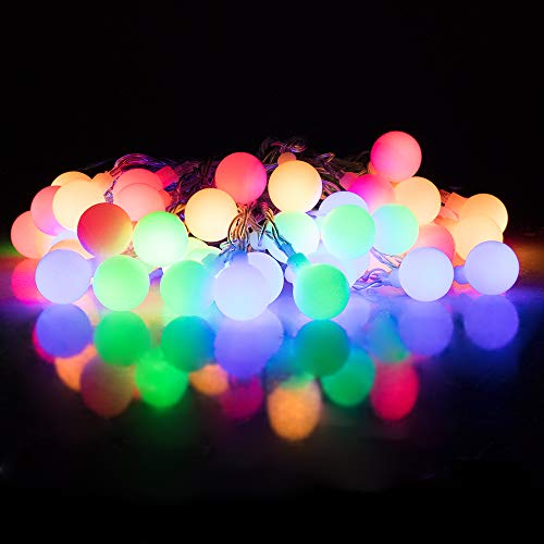 32' White Umbrella - Globe LED Fairy Lights, Shellbox Waterproof Colorful Fairy String Lights, 32Ft/9.5M Colorful Strings Light with Plug Control for Garden, Home, Patio, Yard, Trees,Parties,Wedding Christmas 2018 Release