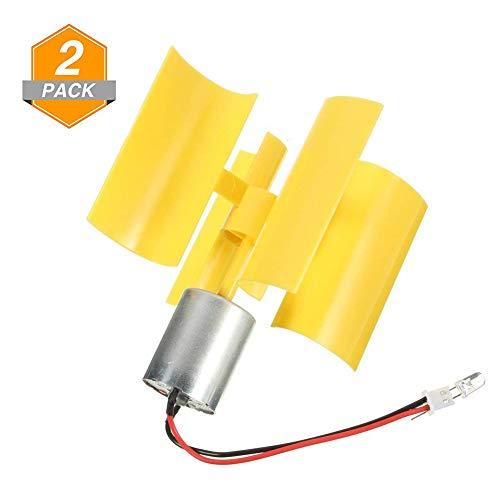 RoseSummer 2 Pack DIY Kit Small DC Motor Vertical Micro Wind Turbines Blades Generator