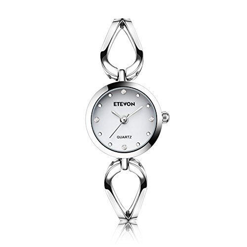 Women's Quartz Silver Wrist Watch with Small Dial Thin Bracelet, Fashion Casual Watches for Ladies girls Silver Girls Watch