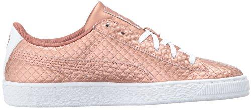 Pictures of PUMA Basket Met Emboss Kids Sneaker Copper 3