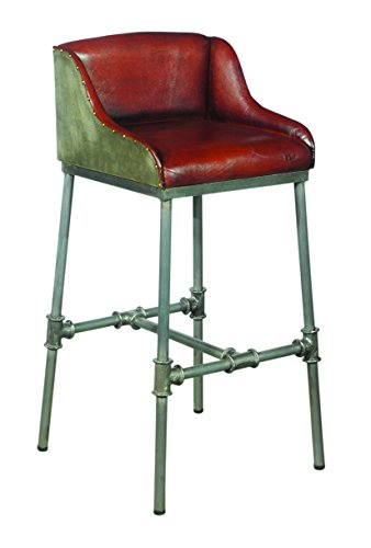 (Pulaski  Industrial Leather and Metal Barstool)
