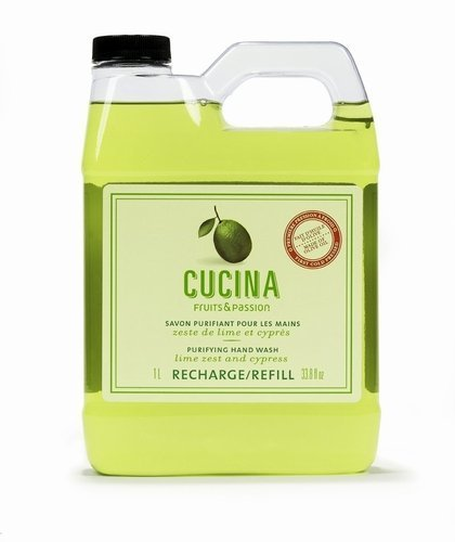 Lime Zest and Cypress Cucina Purifying Hand Wash Refill by Fruits and Passion