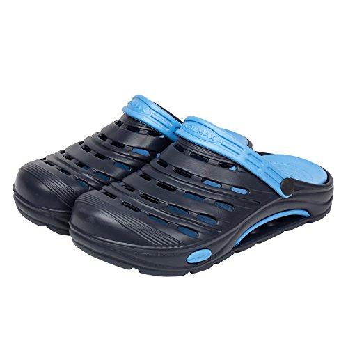 Clogs Schuhe Sandalen Hausschuhe Badeschuhe marineblau / blau Gr 38
