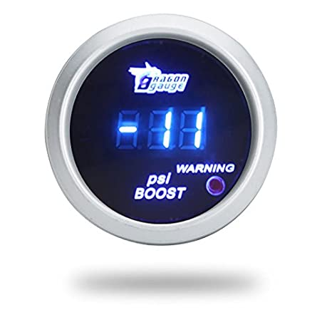 2' 52mm Blue Led Digital Car Boost/Water Temp/Oil Temp/Oil Pressure/Tachometer/Volt Triple GAUGE POD Mount Holder π®