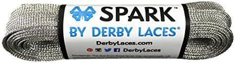 Silber 274,3 cm Spark Skate Lace – Derby Schnürsenkel für Roller Derby, Hockey und Schlittschuhe, und Stiefel