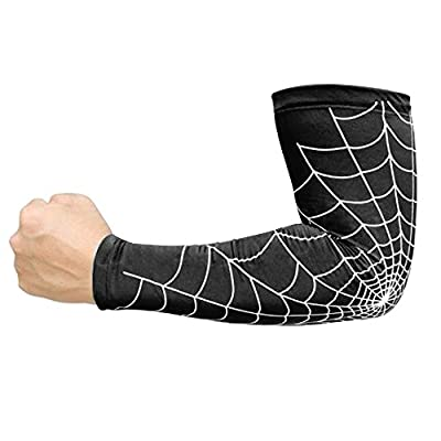 Baiyu Compression Arm Sleeve Basketball Shooter Guard Elastic Arm Warmer Cycling Crossfit Football Sports Antislip Protects From Scratches Boosts Circulation Helps Recovery- M/ L/ XL