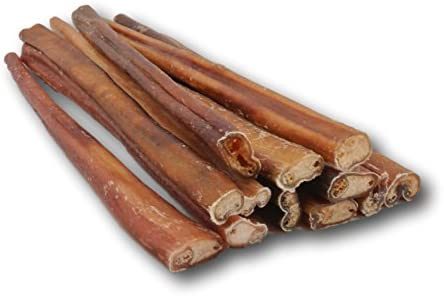 "Top Dog Chews Standard Bully Sticks 12"" Free Range, Grass Fed Natural Beef 12 Pack"