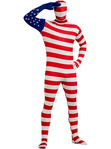 [Adult 2nd Skin American Flag Bodysuit - Extra Large] (Costumes Usa)