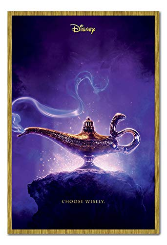 Aladdin Movie Choose Wisley Poster Magnetic Notice Board Oak Framed Approx 38 x 26 inches 96.5 x 66 cms