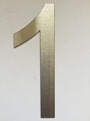 Número Casa / Números y abc numeral cepillado Acero inoxidable (1)