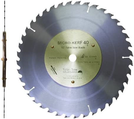 10 Micro Kerf40 1 16 Kerf Table Saw Mitre Saw Blade With 5 8 Arbor Amazon Com
