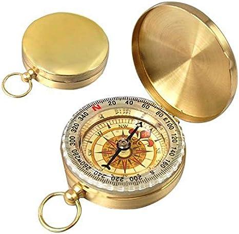 RETYLY Reloj del Compas Clasico de Bolsillo del Estilo bronceadores de antiguedad para la acampa