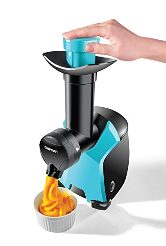 Chefman Frozurt, Frozen Dessert Maker, Healthy, Dairy Free, Vegan Ice Cream, Soft Serve Frozen Yogurt, Fruit Sorbet Sherbet Machine, Simple One Push Operation, Blue