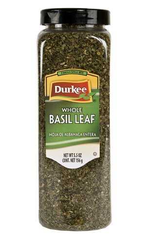 Durkee Whole Basil Leaves, 5.5 oz (Pack of 1) by Durkee