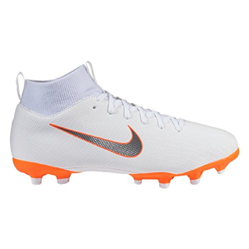 Nike JR Superfly 6 Academy MG Firm Ground Cleat (5.5 M US Big Kid) White/Grey