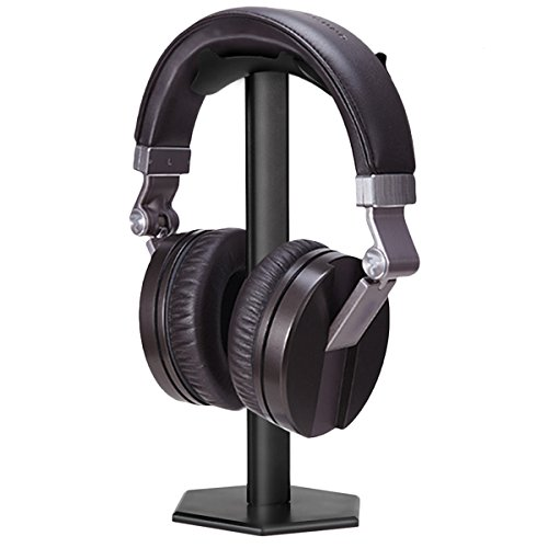 Headphone Stand, Fatanics Universal Headset Holder for Over Ear Headphones, Made of Aluminum and ABS, Black