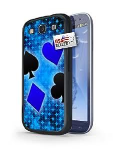 Blue Poker Spade Designer Case for Samsung S3