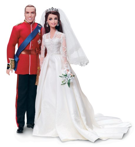 Barbie William and Catherine (Kate Middleton) Royal Wedding Collector Gold Label Exclusive Doll Giftset