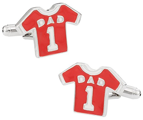 Men's Fathers Day Cufflinks for #1 Dad with Gift Box ()