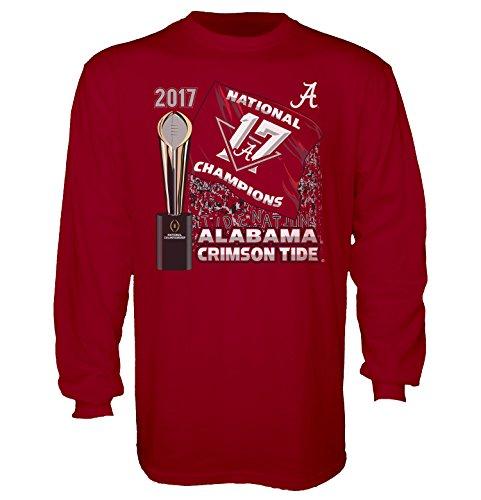 National Champions Tee (Blue 84 Alabama Crimson Tide Conquer Flag 2017 National Champion Long Sleeve Tee-xxl)