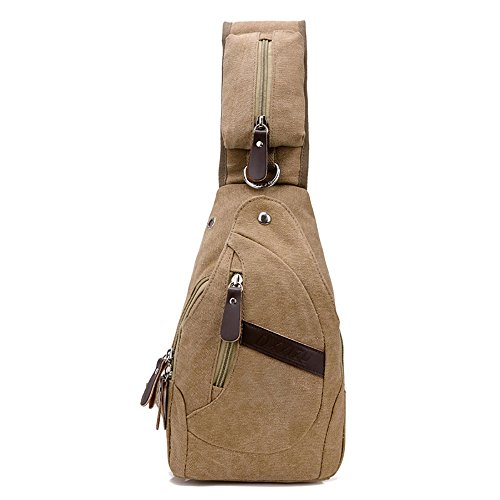 Outdoor cycling usb Casual Canvas Crossbody Sling Bag Men Women Chest Gym Bag ShoulderShoulder Bag Chest Bag Hiking Daypacks for - Fake European Id