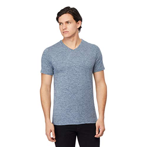 32 DEGREES Mens Cool Vneck Tee, Night Shade Space Dye, XXLarge